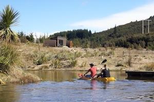 some kayak fun on the closeby pond
